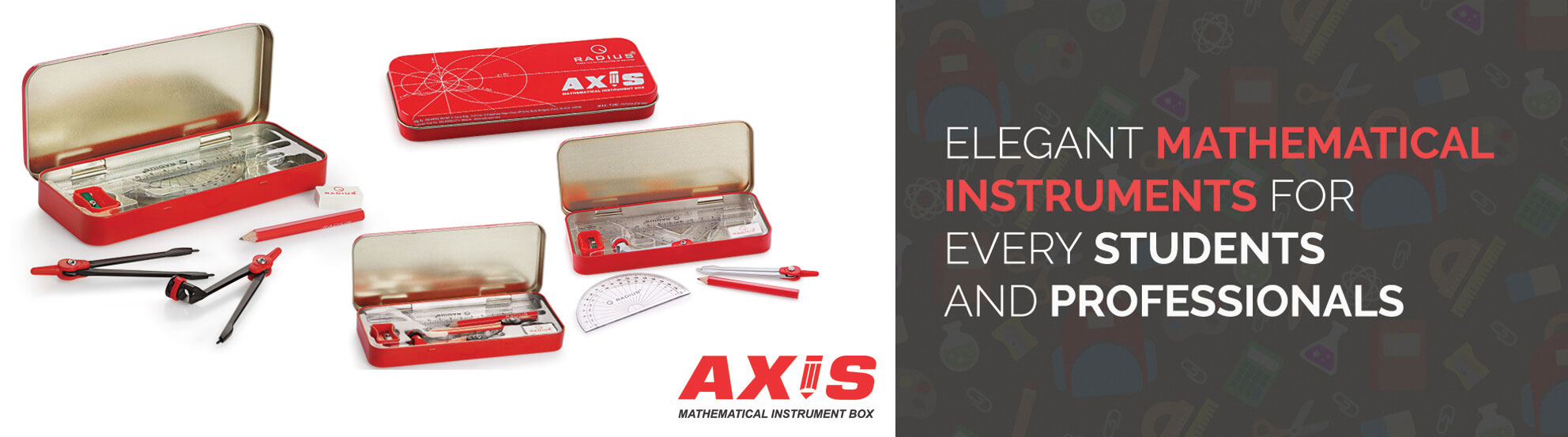 Axis Mathematical Instruments Geometry Box
